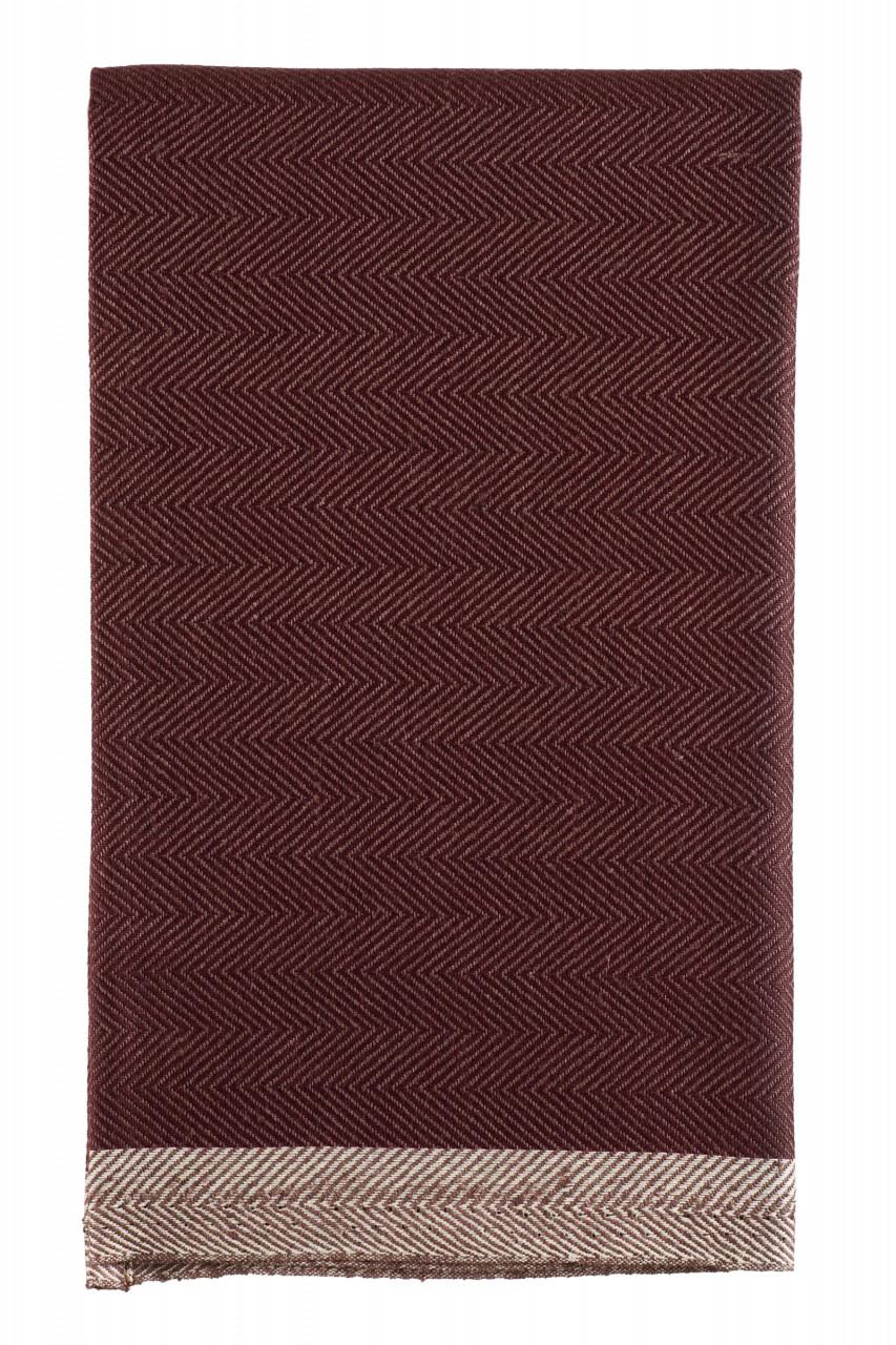 Rento handdoek Fish 50x60cm - visgraatmotief - linnen