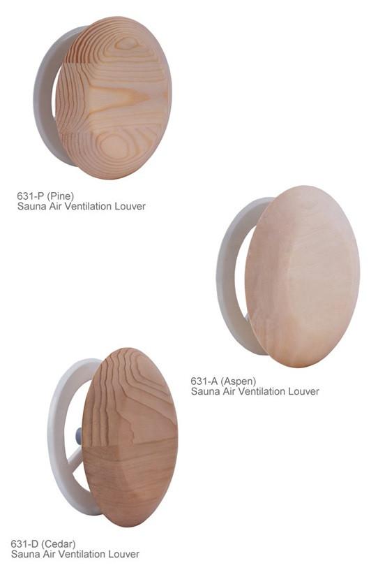 Regelbare ontluchting - rond model - in verschillende houtsoorten