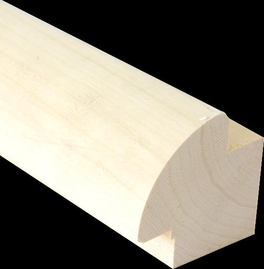 Kwartronde balk Abachi 80x80mm - diverse lengtes