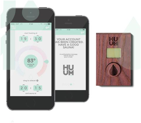 Huum UKU APP saunabesturing - te bedienen vanaf smartphone