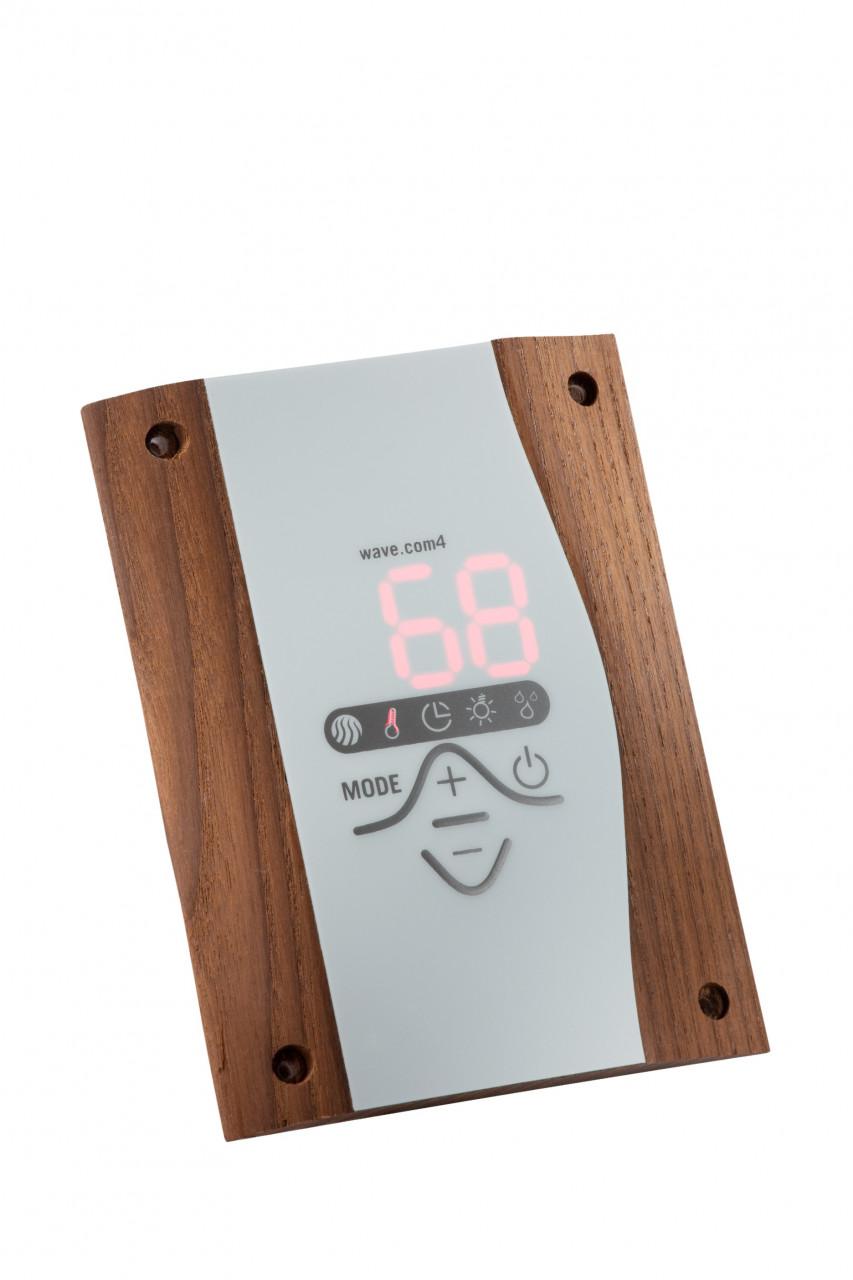 Sentiotec Wave.com4C saunabesturing voor combi ovens - donker hout