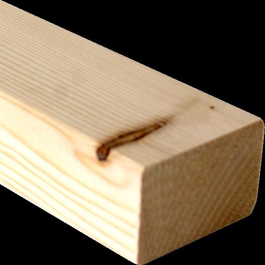 Balk Nordisch Fichte 45x70 mm - afgeronde hoeken