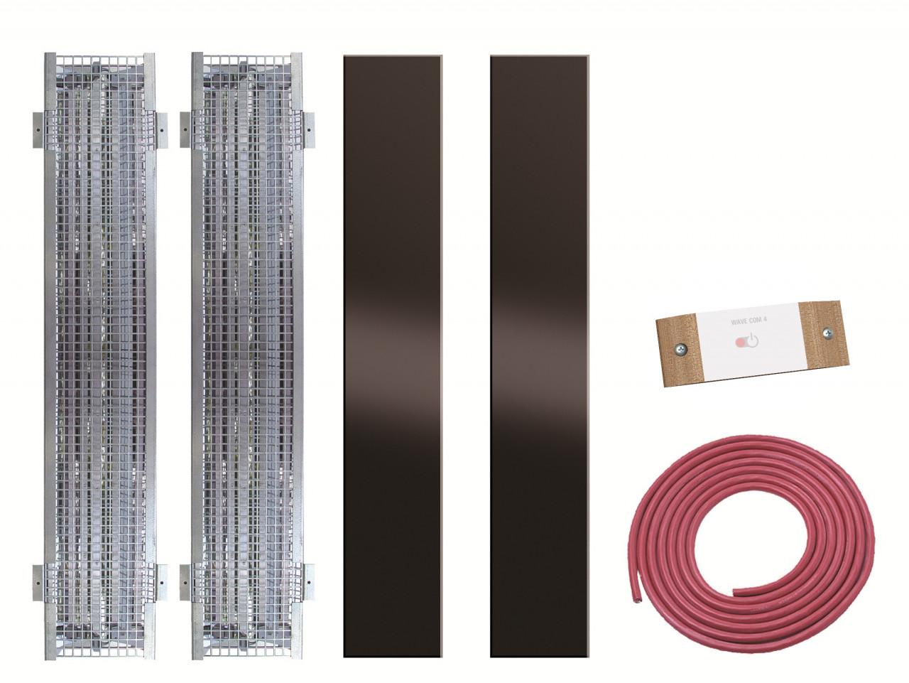 Saunacabine IR-techniek pakket: 2 x Philips Vitae 750W + sturing