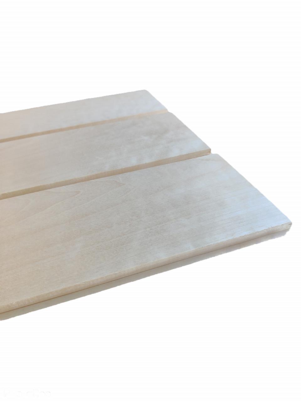 Brede saunaschroot Espen 15x120mm (werkend 110mm) - diverse lengtes