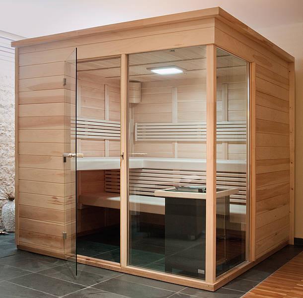 Collaxx kleurentherapie SQUARE-XL tbv saunacabines tot 12m2 / diverse houtsoorten
