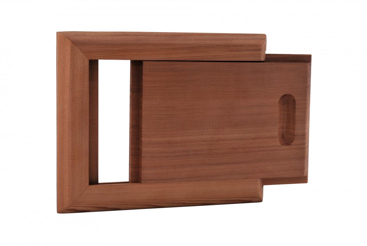 Luchtschuif voor de sauna - in diverse houtsoorten