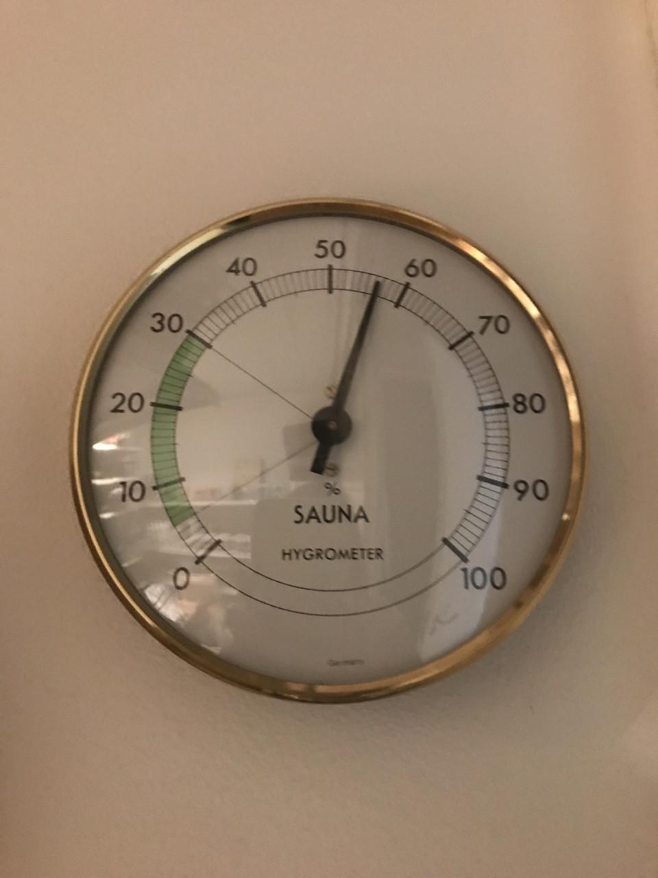 Hygrometer gouden omranding