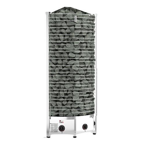 Sawotec Towerheater hoekmodel saunaoven met geïntegreerde besturing