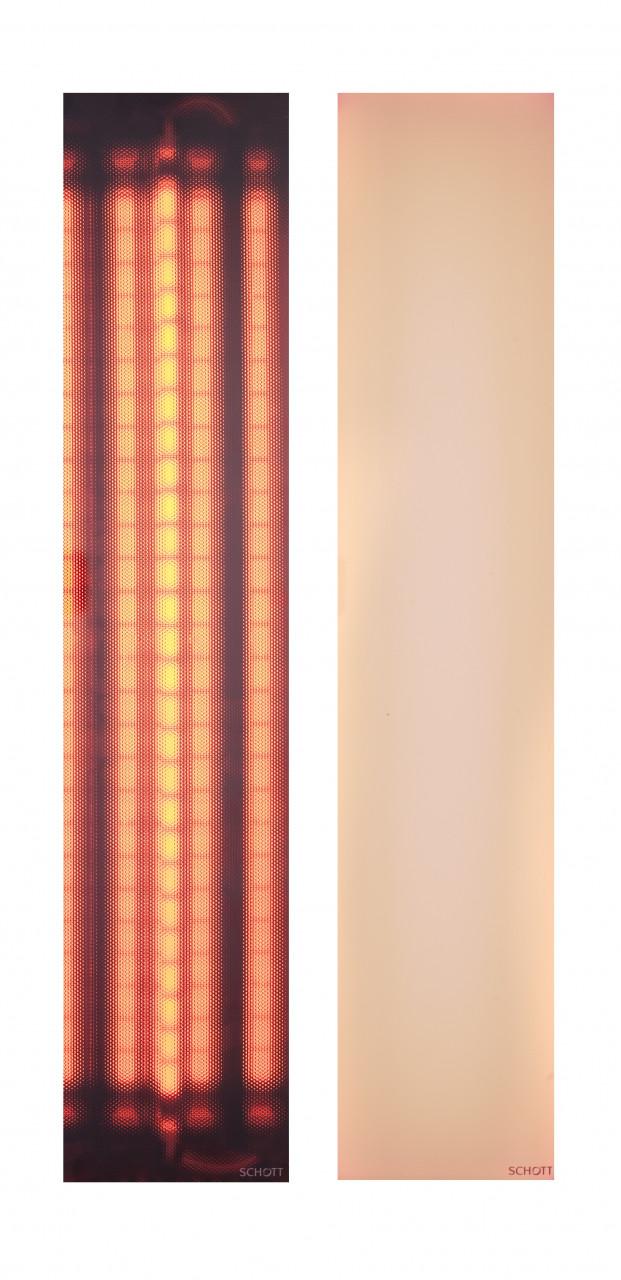 SCHOTT NEXTREMA® filterglas - rood of wit - tbv WAVE VITAE-serie ir-stralers