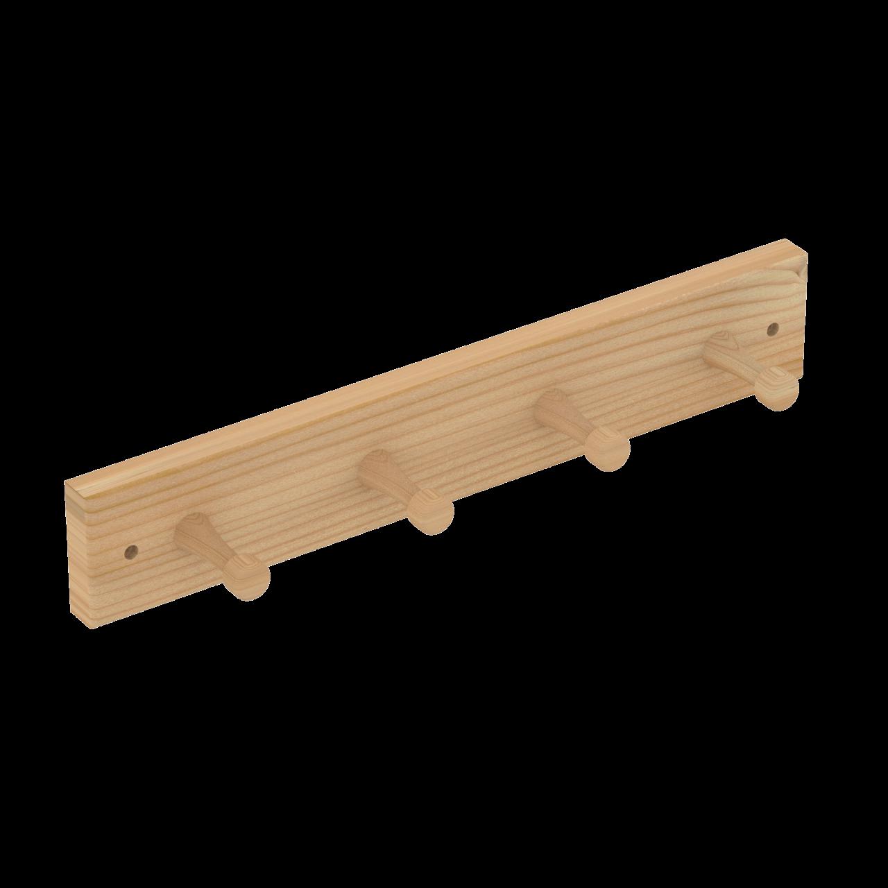 Sawo kapstok 4-haaks pine