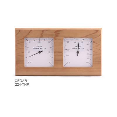 Sawo DOUBLE SQUARE thermo-hygrometer - in verschillende houtsoorten