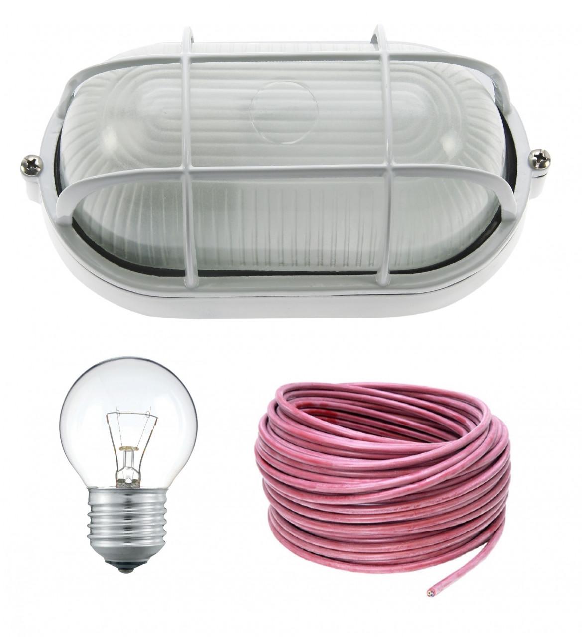 Aansluitset met bulley, lamp & 3,5m kabel