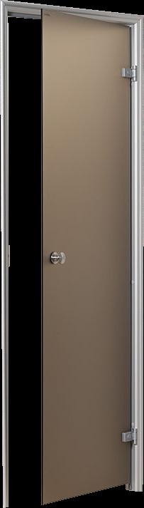 Wez stoomdeur met hout-rvs deurgreep
